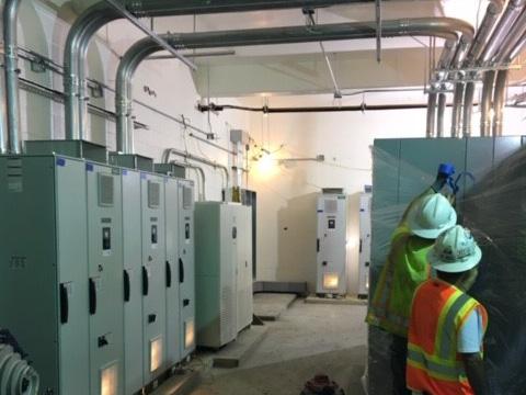 water treatment facility in Cherry Point, North Carolina.